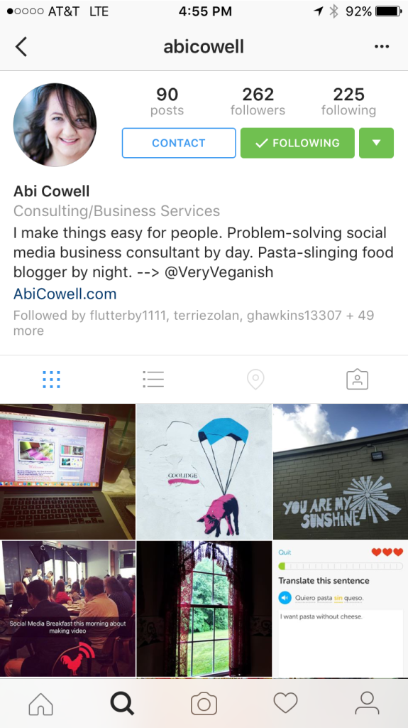 instagram for business contact button 2